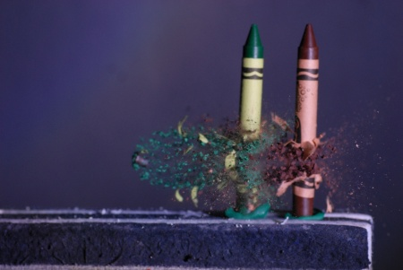 two crayon bullet