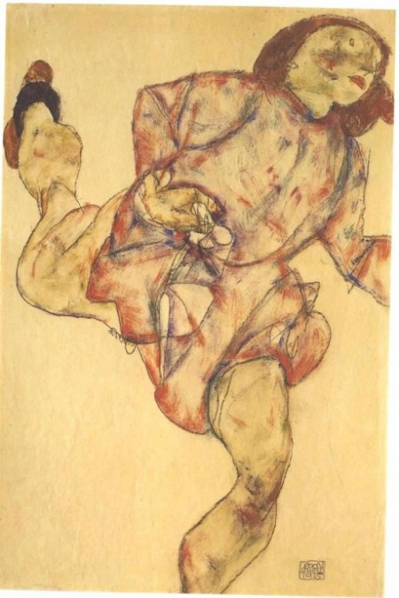 Schiele_-_Laufende_-_1915_